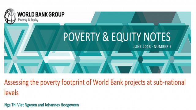 Poverty & Equity Note 6: Assessing the poverty footprint of World Bank projects at sub-national levels