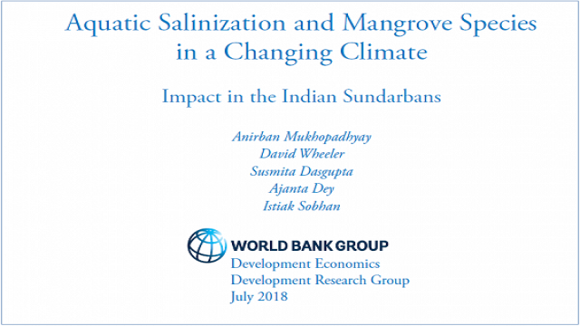 Policy Research Working Paper: Aquatic Salinization and Mangrove Species in a Changing Climate