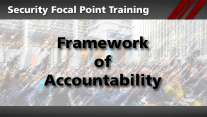 Security Focal Point: Framework of Accountability