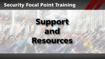 Security Focal Point: Support and Resources