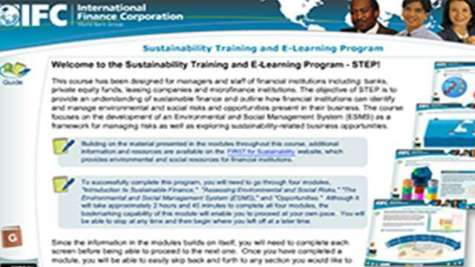 Sustainability Training and E-Learning Program (STEP) (Self-paced)