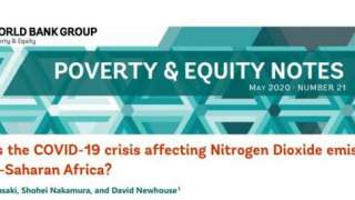 """Poverty & Equity Note #21: How is the COVID-19 Crisis Affecting Nitrogen Dioxide Emissions in Sub-Saharan Africa?"""""""