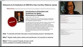 Introduction to Principles and Guidelines for Better Governance in Hospitals