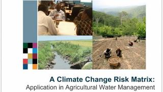 Assessing Climate Risk with Risk Matrix
