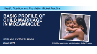 Basic Profile of Child Marriage in Mozambique