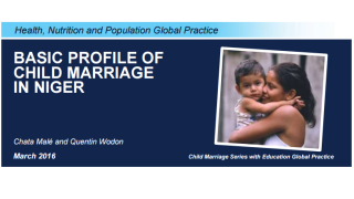 Basic Profile of Child Marriage in Niger