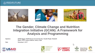 Integrating Gender, Climate Change, and Nutrition in Development Programming