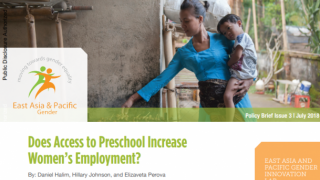 Does access to preschool increase women's employment?