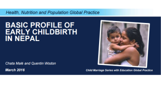 Basic Profile of Early Childbirth in Nepal
