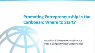 Promoting Entrepreneurship in the Caribbean: Where to Start? (Podcast)