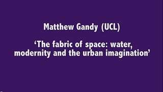 The Flexible City - Closing keynote by Matthew Gandy (UCL): Presentation