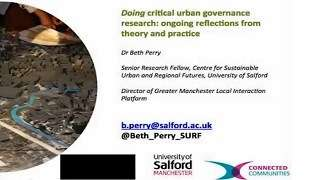 The Flexible City - Emergent Governance Session: Beth Perry (University of Salford)