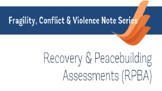 Recovery & Peacebuilding Assessments (RPBA)