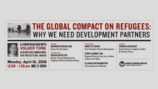 The Global Compact on Refugees: Why we Need Development Partners