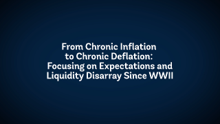 The State of Economics: From Chronic Inflation to Chronic Deflation