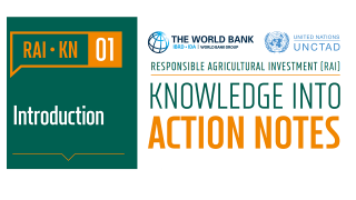 RAI Knowledge Into Action Notes: Introduction to Responsible Agricultural Investment