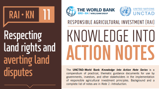 RAI Knowledge Into Action Notes: Respecting Land Rights and Averting Land Disputes