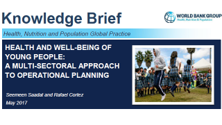 Health and Well-Being of Young People : A Multi-Sectoral Approach to Operational Planning