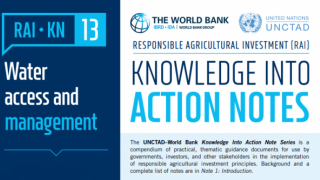 RAI Knowledge Into Action Notes: Water Access and Management