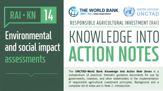 RAI Knowledge Into Action Notes: Environmental and Social Impact Assessments