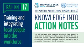 RAI Knowledge Into Action Notes: Training and Integrating Local People into the Workforce