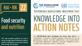 RAI Knowledge Into Action Notes: Food Security and Nutrition