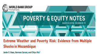 Poverty & Equity Note 11: Extreme Weather and Poverty Risk: Evidence from Multiple Shocks in Mozambique