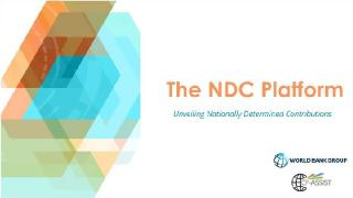 The NDC Platform: Unveiling the Nationally Determined Contributions