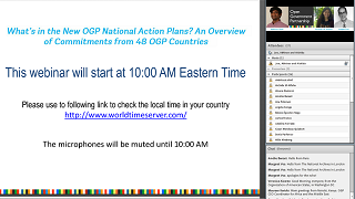 What's in the New OGP National Action Plans?