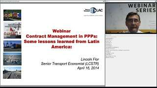 PPP Contract Management: Learning from PPP experiences in Latin America