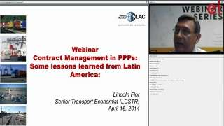 PPP Contract Management: Experiences in Latin America