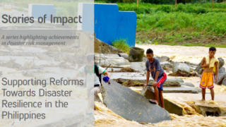 Supporting Reforms Towards Disaster Resilience in the Philippines