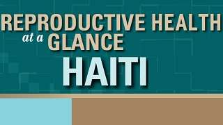 Haiti - Reproductive Health at a Glance