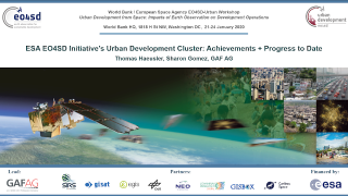 Urban Development From Space: Interactive Demonstration of EO4SD-Urban Earth Observation (EO) Products and Tools