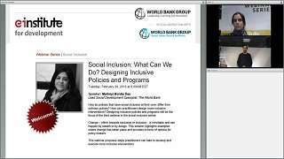 Social Inclusion: What Can We Do? Designing Inclusive Policies and Programs