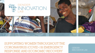 Supporting Women Throughout the Coronavirus (COVID-19) Emergency Response and Economic Recovery