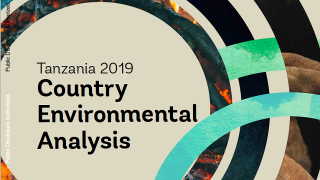 Tanzania 2019 Country Environmental Analysis: Environmental Trends and Threats, and Pathways to Improved Sustainability