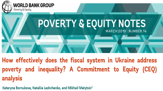 How Effectively Does the Fiscal System in Ukraine Address Poverty and Inequality? A Commitment to Equity (CEQ) Analysis