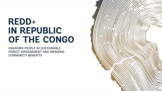 REDD+ Republic of Congo Engaging Communities in Sustainable Forets Management Brings Benefits