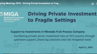 Driving Private Investment to Fragile Settings #InvestingFCS