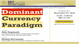 DEC Lecture Series: Dominant Currency Paradigm