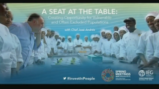 A Seat at the Table: Creating Opportunity for Vulnerable and Often Excluded Populations with Chef Jose Andres