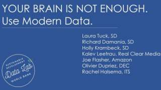 SD Tech Talk: Your Brain is Not Enough. Use Modern Data.