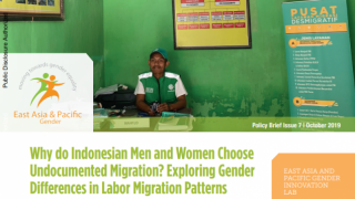 Why do Indonesian Men and Women Choose Undocumented Migration? Exploring Gender Differences in Labor Migration Patterns